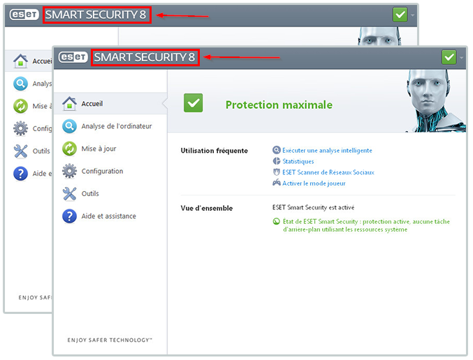 Version de produit ESET