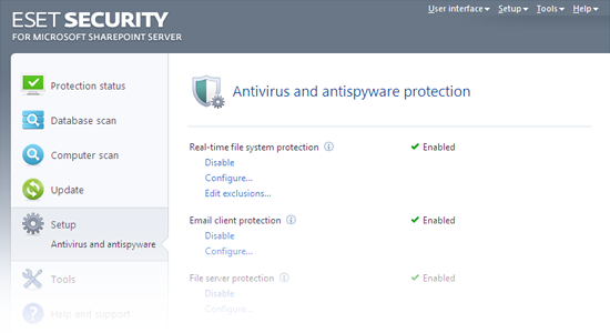 ESET Security for Microsoft SharePoint Release Candidate - Antivirus and antispyware