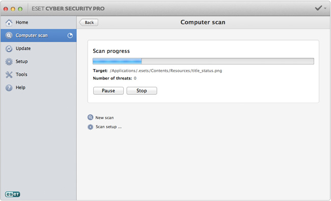 image: ESET Cyber Security Pro - Scan