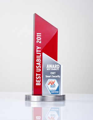 AV-TEST Award - Best Usability 2011 Eset Smart Security